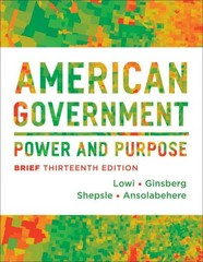 American Government 13th Edition 9780393922462 0393922464