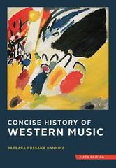 Concise History of Western Music 5th Edition 9780393920666 0393920666