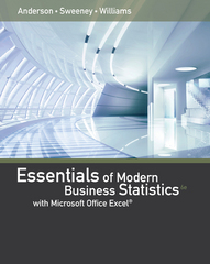 Essentials of modern business statistics with microsoft excel 6th essentials of modern business statistics with microsoft excel 6th edition rent 9781285867045 chegg fandeluxe Gallery