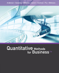 Quantitative Methods for Business 13th Edition 9781305480568 1305480562