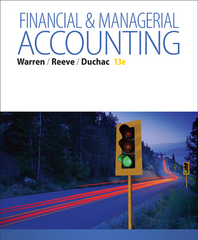 Financial & Managerial Accounting 13th Edition 9781285866307 1285866304