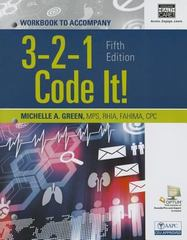 Student Workbook for Green's 3,2,1 Code It! 5th Edition 9781285867229 128586722X