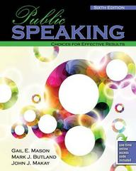 Public Speaking 6th Edition 9781465232694 1465232699