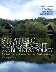 Strategic Management and Business Policy 14th Edition 9780133126143 0133126145