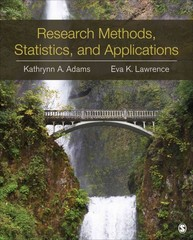 Research Methods, Statistics, and Applications 1st Edition 9781452220185 1452220182