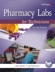 Pharmacy Labs for Technicians with NRx Simulation CD 2nd Edition 9780763852399 0763852392