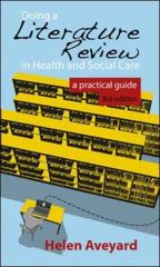 Doing a Literature Review in Health and Social Care 3rd Edition 9780335263073 0335263070