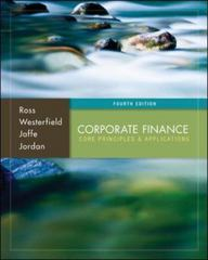 Corporate Finance: Core Principles and Applications 4th Edition 9780077650469 0077650468