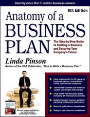 Anatomy of a Business Plan 8th Edition 9780944205549 0944205542