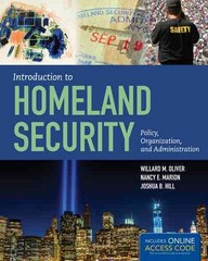 Introduction To Homeland Security 1st Edition 9781284045833 1284045838