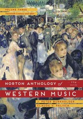 The Norton Anthology of Western Music 7th Edition 9780393921632 0393921638