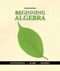 Bundle: Beginning Algebra, 9th + Student Solutions Manual 9th edition 9781111496029 1111496021