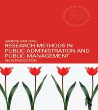 Research Methods in Public Administration and Public Management 1st Edition 9780415655828 041565582X
