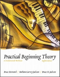 Workbook Solutions Manual t/a Music Theory and Practice, Volume II 8th edition 9780073127446 0073127442