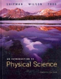 Website Passkey and eBook for Shipman/Wilson/Todd's Introduction to Physical Sciences