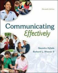Communicating Effectively 11th Edition 9780073523873 0073523879