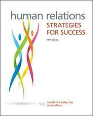 Human Relations 5th Edition 9780073524689 0073524689