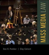 Mass Media Law 19th Edition 9780077861421 0077861426