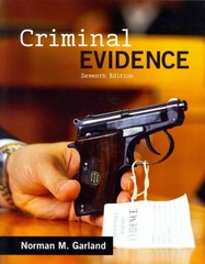 Criminal Evidence 7th Edition 9780078026614 007802661X