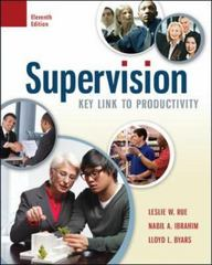 Supervision 11th Edition 9780077774400 007777440X