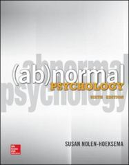 Abnormal Psychology 6th Edition 9780078035388 0078035384
