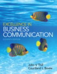 Excellence in Business Communication 11th Edition 9780133544176 0133544176