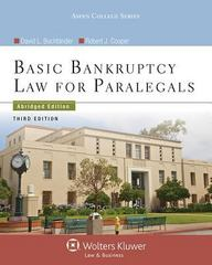 Basic Bankruptcy Law for Paralegals 3rd Edition 9781454842019 1454842016