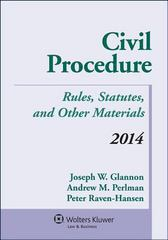 Civil Procedure 2014th Edition 9781454841746 1454841745