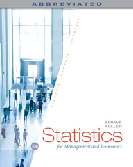Statistics for Management and Economics, Abbreviated 10th Edition 9781285869643 1285869648