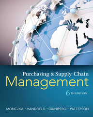 Purchasing and Supply Chain Management 6th Edition 9781305809789 1305809785