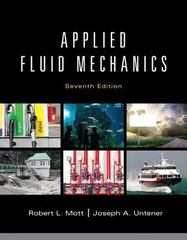 Applied Fluid Mechanics 7th Edition 9780132558921 0132558920
