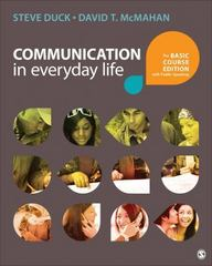 Communication in Everyday Life 1st Edition 9781483344980 1483344983