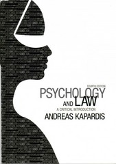 Psychology and Law 4th Edition 9781107650848 1107650844