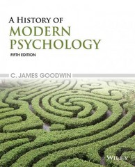 A History of Modern Psychology 5th Edition 9781119026099 1119026091