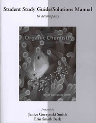 Study Guide/Solutions Manual for Organic Chemistry 4th Edition 9781259249983 1259249980