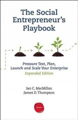 The Social Entrepreneur's Playbook 1st Edition 9781613630327 1613630328
