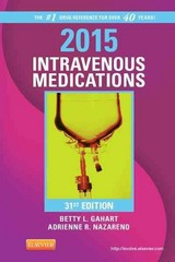 2015 Intravenous Medications 31th Edition 9780323084758 0323084753