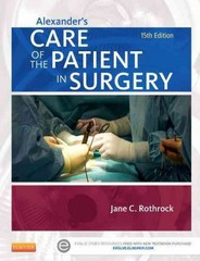 Alexander's Care of the Patient in Surgery 15th Edition 9780323089425 0323089429