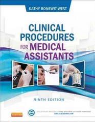 Clinical Procedures for Medical Assistants 9th Edition 9781455748341 145574834X