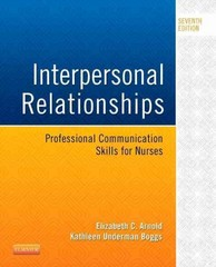 Interpersonal Relationships 7th Edition 9780323242813 0323242812