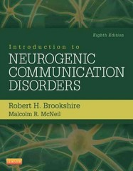 Introduction to Neurogenic Communication Disorders 8th Edition 9780323078672 0323078672