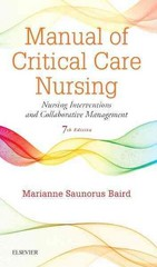 Manual of Critical Care Nursing 7th Edition 9780323187794 032318779X