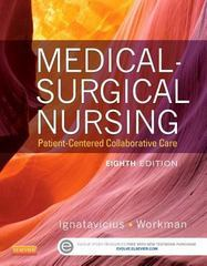 Medical-Surgical Nursing 8th Edition 9781455772551 1455772550