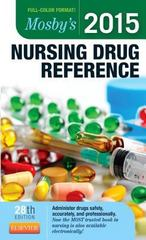 Mosby's 2015 Nursing Drug Reference 28th Edition 9780323278010 0323278019