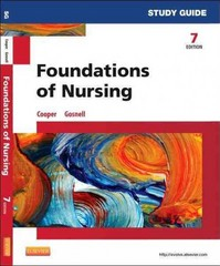 Study Guide for Foundations of Nursing 7th Edition 9780323112239 0323112234