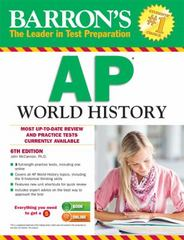 Barron's AP World History, 6th Edition 6th Edition 9781438002729 1438002726