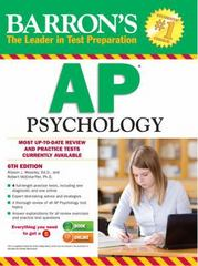 Barron's AP Psychology, 6th Edition 6th Edition 9781438002705 143800270X