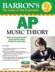 Barron's AP Music Theory with MP3 CD, 2nd Edition 2nd Edition 9781438073897 1438073895