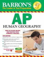 Barron's AP Human Geography, 5th Edition 5th Edition 9781438002828 1438002823