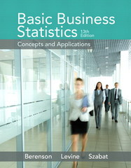 Basic Business Statistics 13th Edition 9780321870025 0321870026